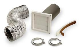 Wall Vent Kit 5 Of 4 Quot Flexible Duct Louvered Wall Cap